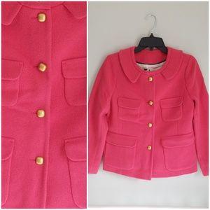 JCrew Pink Waist Length Pea Coat